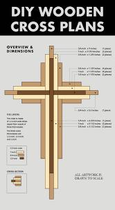 DIY 9-inch Wood Cross Plans