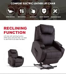 product description this comfort electric leather lift chair