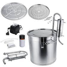 <b>12L</b>/20L/33L <b>Alcohol</b> Distiller <b>Brewing</b> Kit <b>Home</b> Water Still Stainless ...