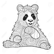 25 Zoeken Panda Hoofd Tekening Kleurplaat Mandala Kleurplaat Voor