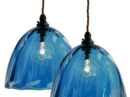 art glass pendant lights art glass pendant lights hand blown blue beanie glass pendant lampshades art