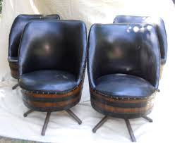 set of 4 vintage whiskey barrel chairs by llcooper202 on