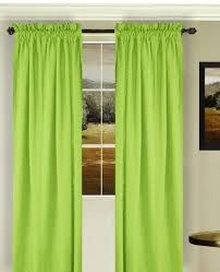 Solid Lime Green Colored Window Long Curtain Available In Many