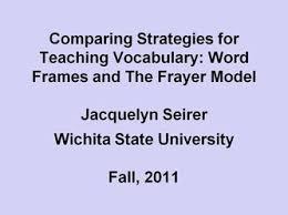 Frayer Frames Action Research 1 Jacquelyn Seirer Professional Portfolio