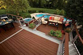 amazing trex decking colors with deck railings and patio furniture