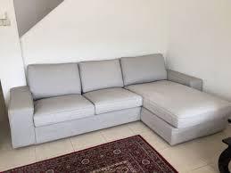 ikea kivik 3 seat sofa with chaise longue footstool furniture sofas on carou