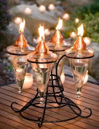 tiki torch lights and outdoor oil lamps