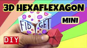 easy diy fidget toy how to make a 3d m