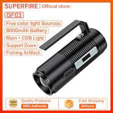 Đèn Pin Bốn Màu Supfire GF03 Đèn Bẫy Cá Công Suất Cao, Đèn Rọi Chiếu Xa  Siêu Sáng Để Săn Bắn Ngoài Trời chính hãng 980,100đ
