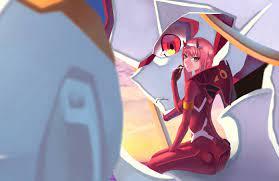 Anime Girl Pink Hair Zero Two Darling ...