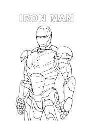 Iron Man Da Colorare Cose Per Crescere