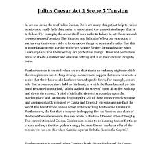how shakespeare creates tension in julius caesar act scene  document image preview