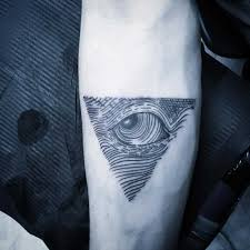Linear Triangle Eye Tattoo Tattoogridnet