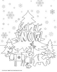 Try to color winter forest to unexpected colors! Winter Coloring Pages For Kids Fun Loving Families