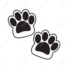 Cat Paw Design Abstract Double Cat Paws Vector Flat Design Can Use To Display