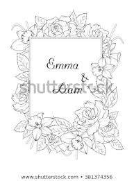 Spring Flower Template Wedding Invitation Template Spring Flowers Frame Stock Vector