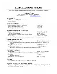 High School Academic Resume Template High School Academic Resume Template Examples Student Pdf For 11