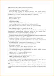 6 Undergraduate College Resume Template Resume Cover Note