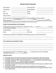 Contract Forms For Construction 32 Sample Contract Templates In Microsoft Word