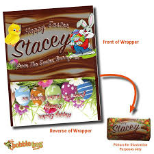 personalised chocolate bar wrapper novelty easter gift ref ch 5