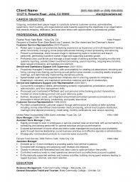 manager resume objective resume sample database resume