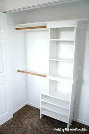 stylish build closet shelf storage system building organizer plan free captivating how to idea wood mdf clothes rod plywood diy linen custom walk in