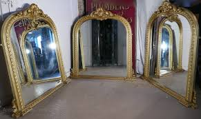 large gilt rococo over mantle mirror