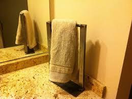 image of countertop towel rack free standing