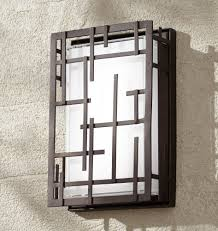 Modern Lines 9 14 High Bronze Led Outdoor Wall Light In 2019