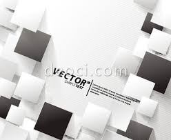 Free Vector Stylish Black And White Rectangle Album Cover Background