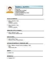 Formato De Curriculum Basico Rome Fontanacountryinn Com
