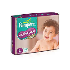 Pampers Active Baby Large Size Diapers 78 Count