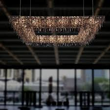 original design chandelier crystal halogen handmade ugolino system rectangular