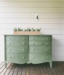 green painted furniture. dresser painted by amanda of ferpie and fray in real milk paint co earth green furniture e