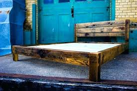 reclaimed wood king platform bed. Wrought Iron Platform Bed Reclaimed Wood Frame S King . L