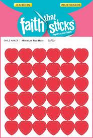 Sunday School Sticker Charts Miniature Red Heart