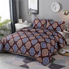 Designer Bed Sheet Set Hot Item Wholesale Handmade Indian Cheap Patchwork And Printed Quilt Designer Quilted Bedspreads Best Bedding Set
