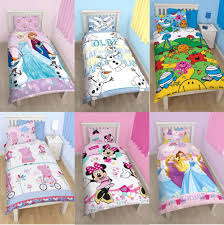 girls character single quilt duvet cover pillowcase bedding sets disney kids