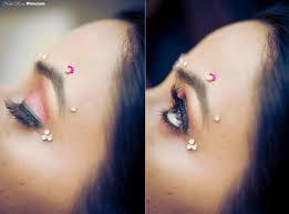 blush pink eyeshadow with tri gold