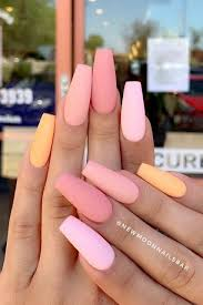 24 Gorgeous Ombre Acrylic Coffin Nails To Wear Vibrant Nail Colors