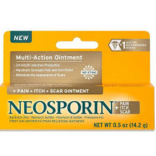 Neosporin + <b>Pain Itch Scar Multi</b>-<b>Action</b> Ointment 14.2g/0.5oz ...