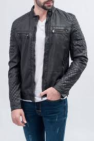 picture of vintage wash imitation leather jacket