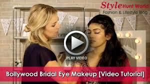 bollywood bridal eye makeup video tutorial