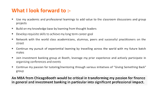 chicago booth sample powerpoint presentation essay mymbajourney these are partial essays not the entire thing