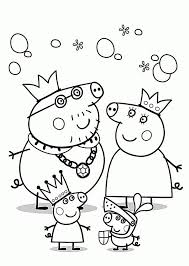 Peppa Pig Coloring Pages For Kids Printable Free Printable