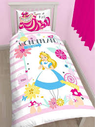 alice in wonderland curious single duvet cover set polycotton childrens bedding single duvet cover duvet and quilt cover