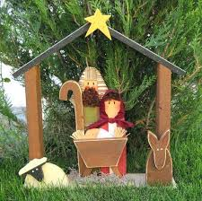 outdoor wooden nativity set large nativity for holiday noel baby by outdoor wooden nativity set