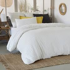 uzes washed linen printed duvet cover la redoute interieurs image 0