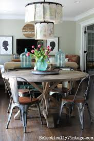 love this round dining table and chairs beautiful farmhouse decor kellyelko com