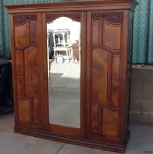 armoire furniture antique. Cool Cedar Wardrobe Armoire Furniture Antique Closet 2 Door Wooden Photos E
